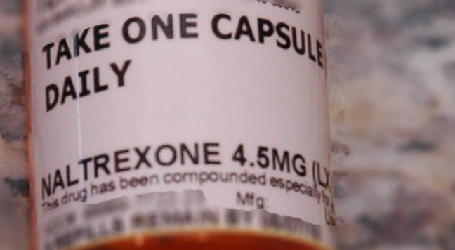 prescription bottle containing low dose naltrexone