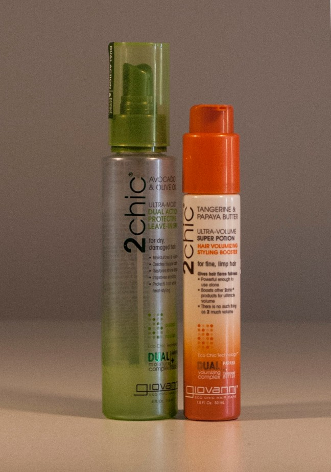 2awesome products. Click on the image to go to the 2chic site. The green line is for moisture, the orange line for volume.